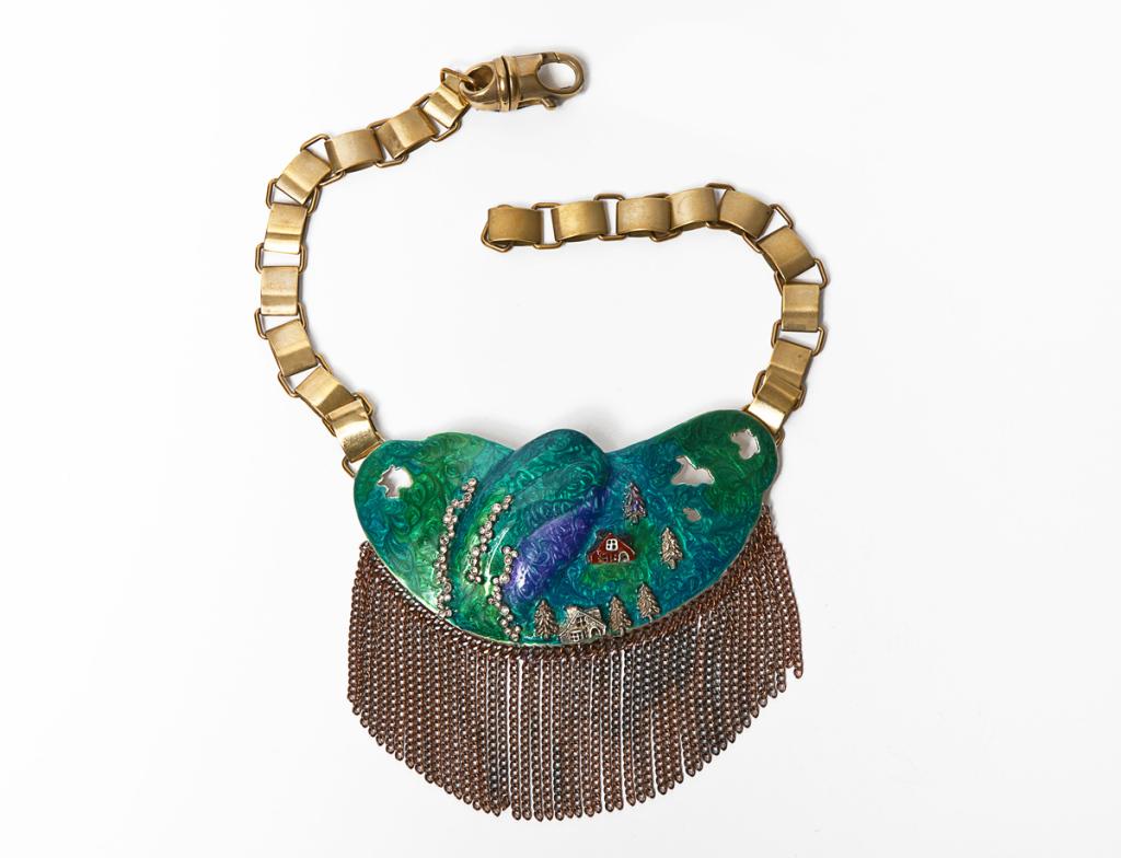 2-Aurora-borealis-necklace--925-brown-silver-enamel-diamonds