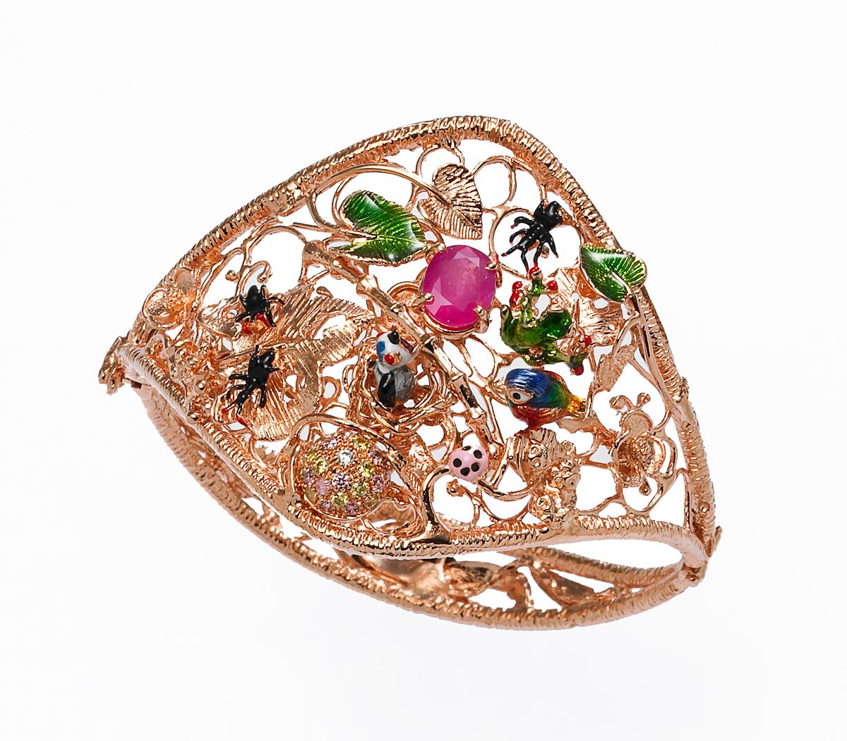 2-the-nest-bracelet-925-pink-silver-enamel-diamonds