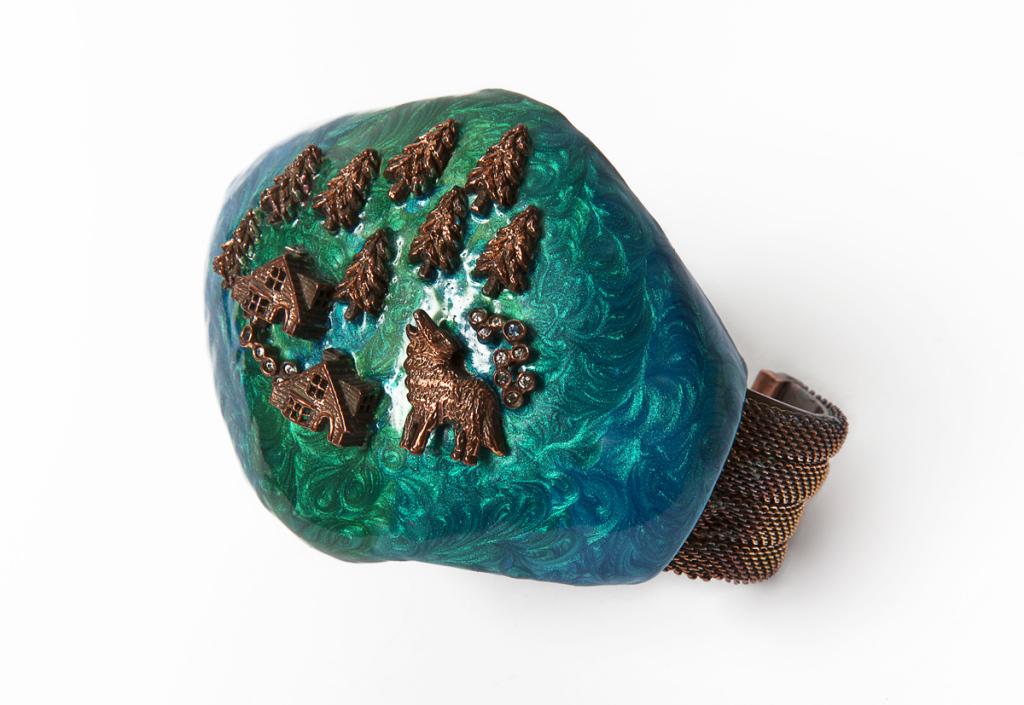 7-Aurora-borealis-bracelet-925-brown-silver-enamel-diamonds-