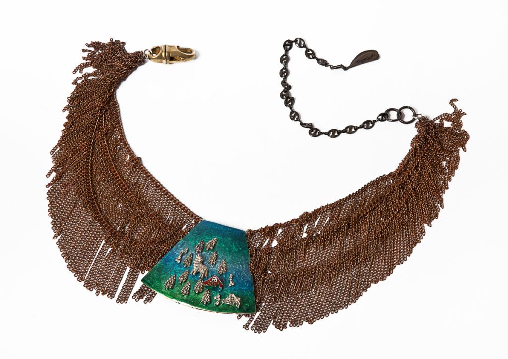 8-aurora-borealis-necklace--925-brown-silver-enamel-diamonds